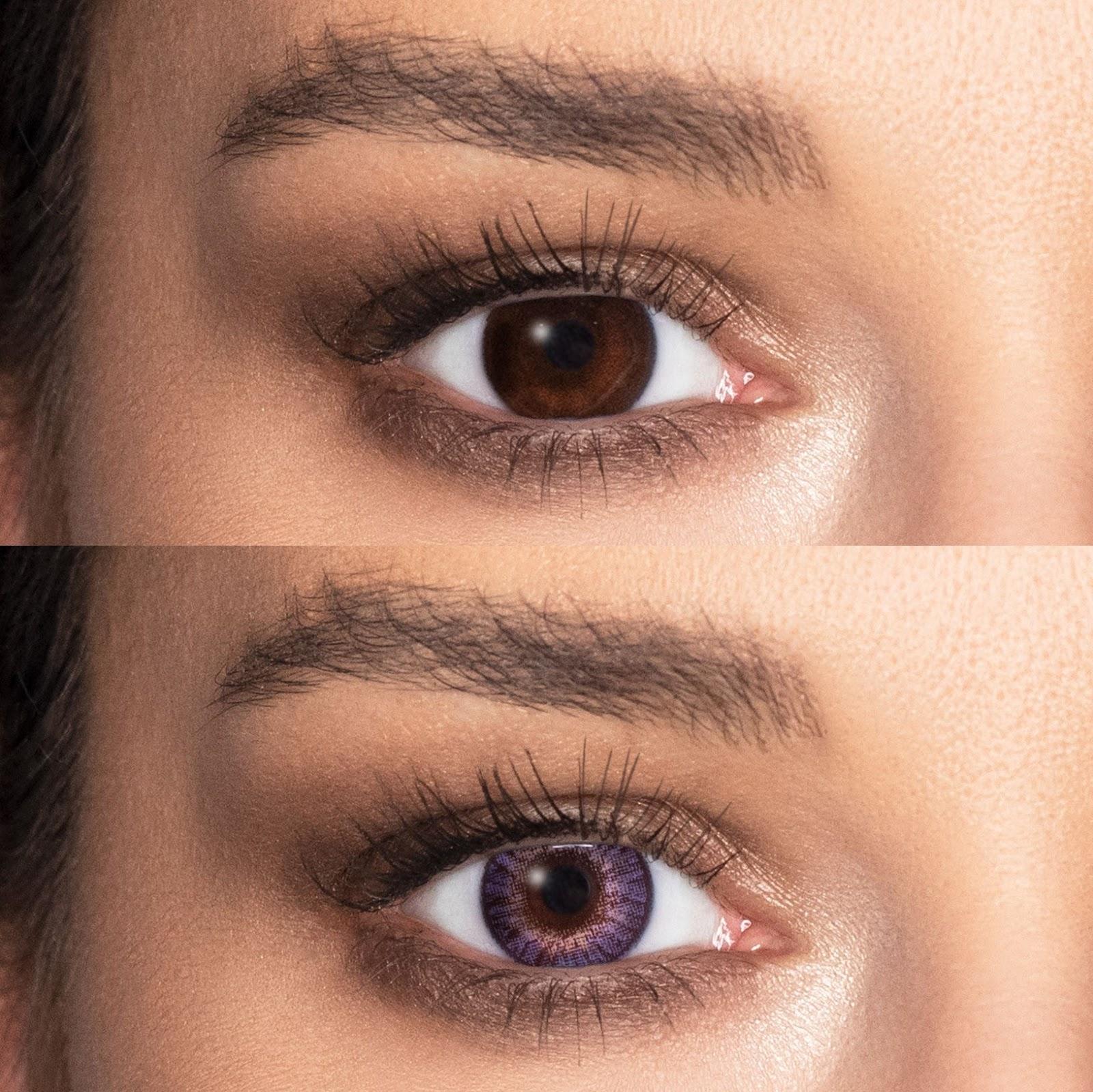 lentile de contact FreshLook ColorBlend violet