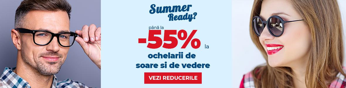 Reduceri de până la 55% la ochelarii de vedere și de soare! Profită și tu!