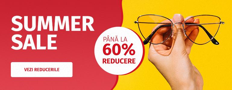 La Videt a început SUMMER SALE! Ai discounturi de până la 60% la mii de ochelari de vedere și de soare. Descoperă!