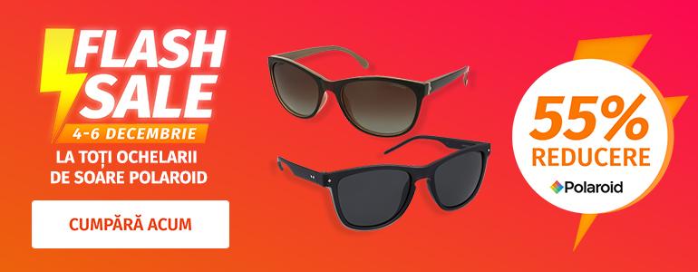 FLASH SALE! -55% la toți ochelarii de soare Polaroid!