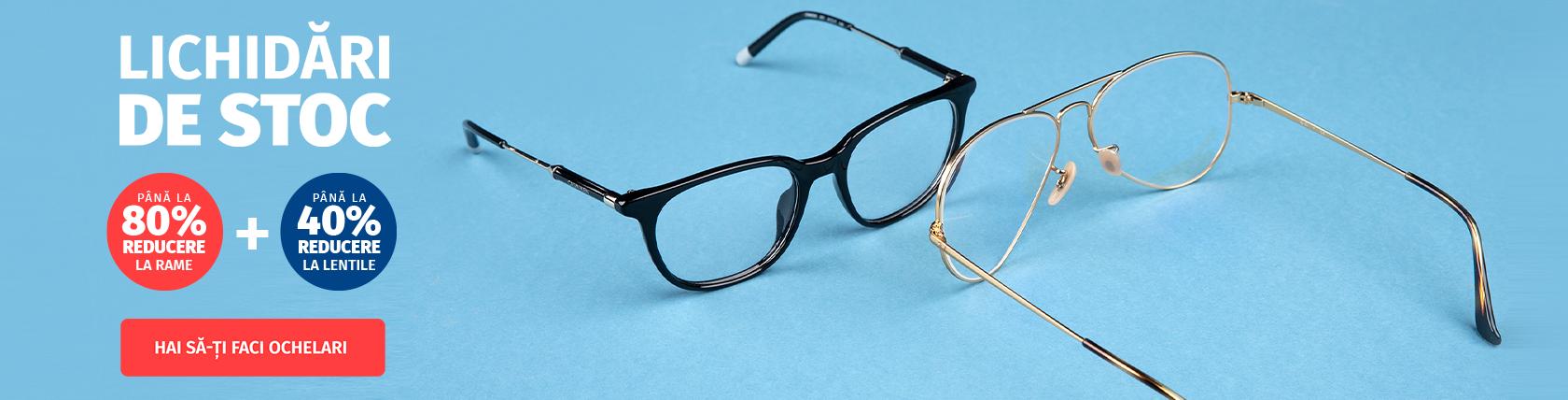 Lichidări de stoc cu reduceri de până 80% la ochelarii de soare și de vedere! Profită și tu!