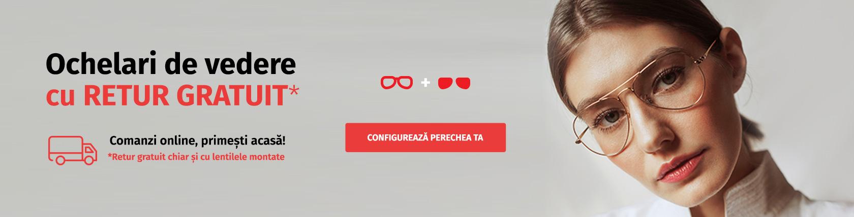 Comandă-ți online ochelarii de vedere! De la 298 lei.