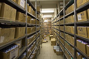 Lenses and solution are stored in a clean area
