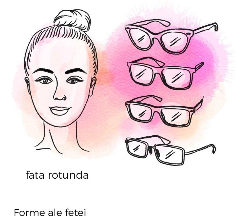 ochelari fata rotunda