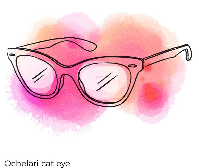 ochelari cat eye