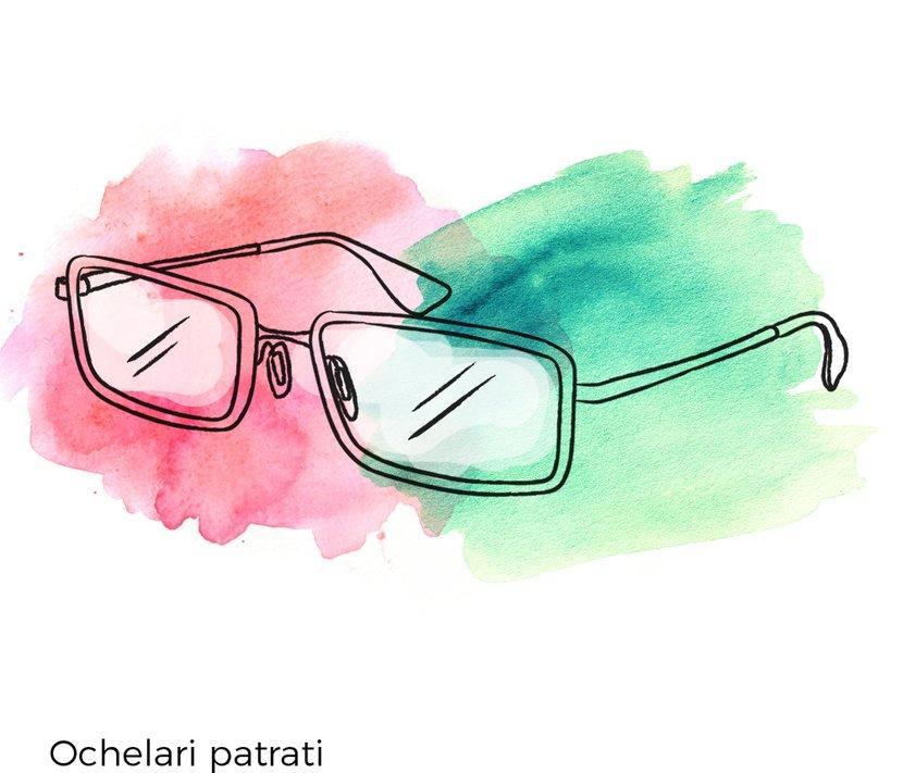 ochelari vedere patrati