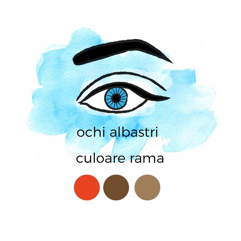 ochelari ochi albastri