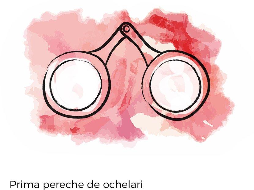 prima pereche de ochelari