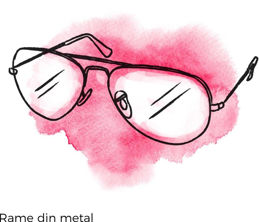 rame ochelari din metal