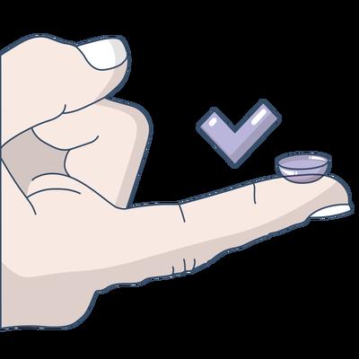 Aplicare corecta lentile de contact