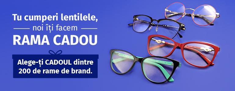 Tu cumperi lentilele, noi îți facem rama cadou!