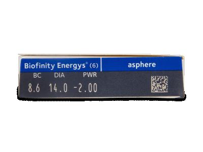 Biofinity Energys (6 lentile) - Parametrii lentilei
