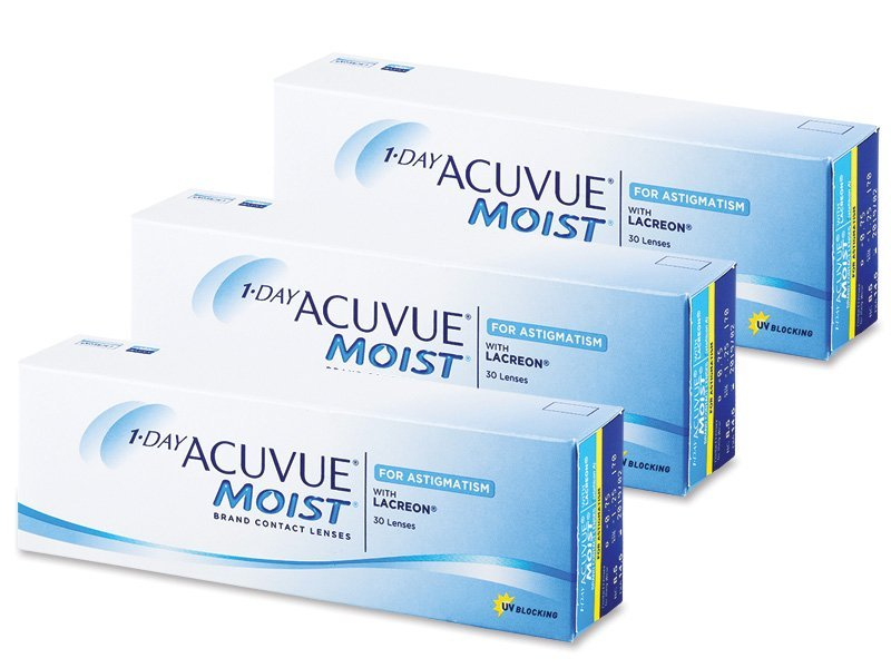 1 Day Acuvue Moist for Astigmatism (90 lentile) - Lentile de contact torice - Johnson and Johnson