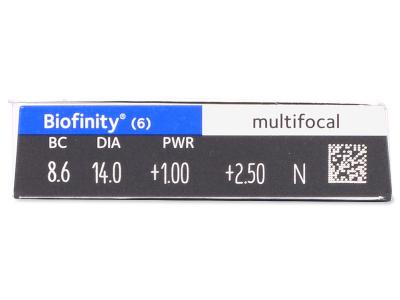 Biofinity Multifocal (6lentile) - Parametrii lentilei