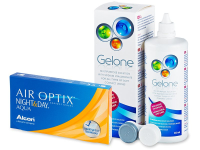 Air Optix Night and Day Aqua (6lentile) +soluțieGelone360 ml - Výhodný balíček