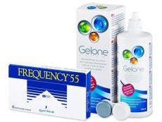 Pachete economice soluții și lentile de contact - Frequency 55 (6lentile) +solutieGelone360ml
