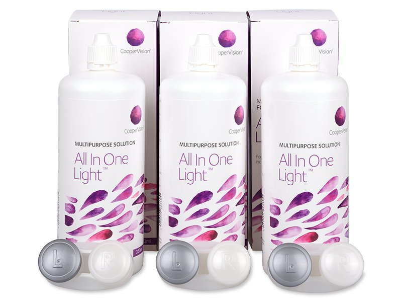 Soluție All In One Light 3 x 360 ml  - Pachete speciale cu 3 soluții - CooperVision