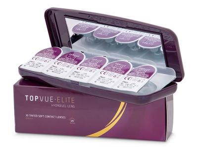 Illustration photo - Casetă pentru lentile de unică folosintă TopVue Elite