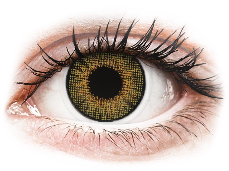 Air Optix Colors - Pure Hazel - fără dioptrie (2 lentile) - Lentile de contact colorate