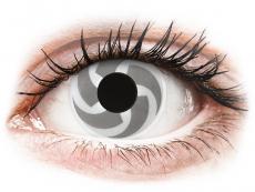 Lentile de contact albe - fără dioptrie - ColourVUE Crazy Lens - Blade - fără dioptrie (2 lentile)