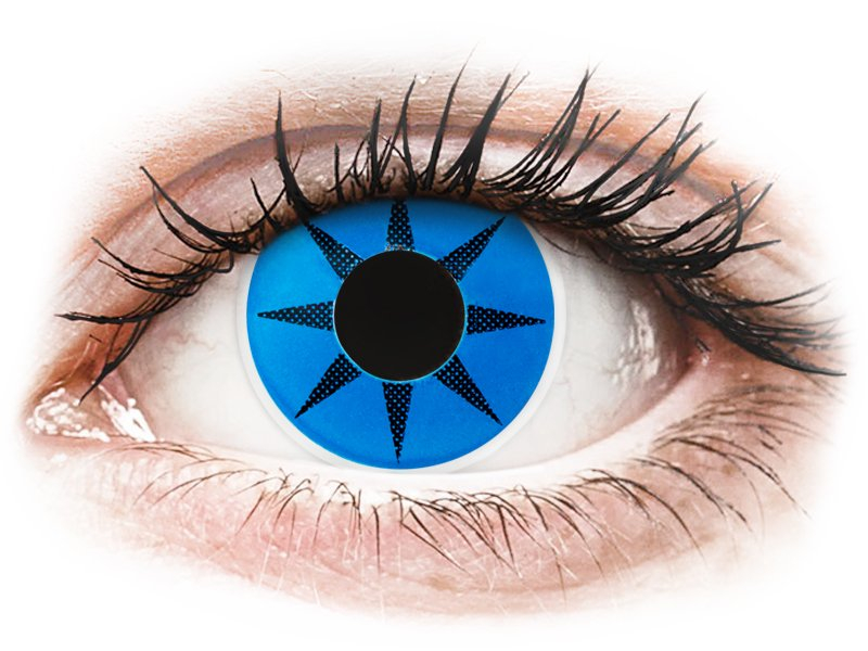 ColourVUE Crazy Lens - Blue Star - fără dioptrie (2 lentile) - Lentile de contact colorate
