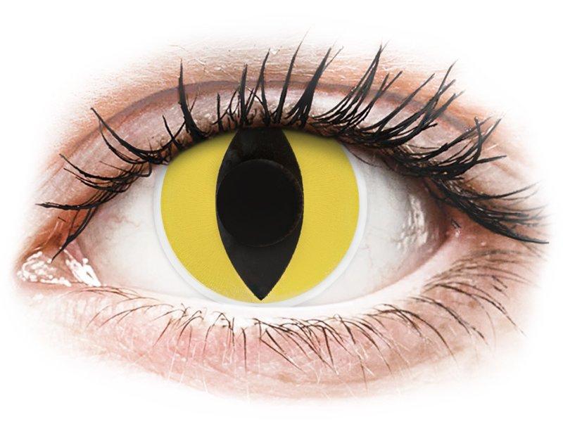 ColourVUE Crazy Lens - Cat Eye - fără dioptrie (2 lentile) - Maxvue Vision