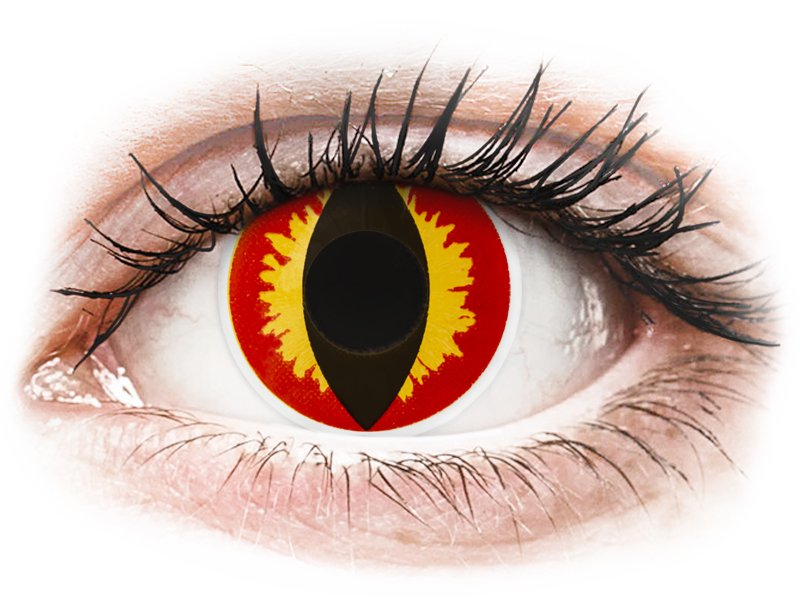 ColourVUE Crazy Lens - Dragon Eyes - fără dioptrie (2 lentile)