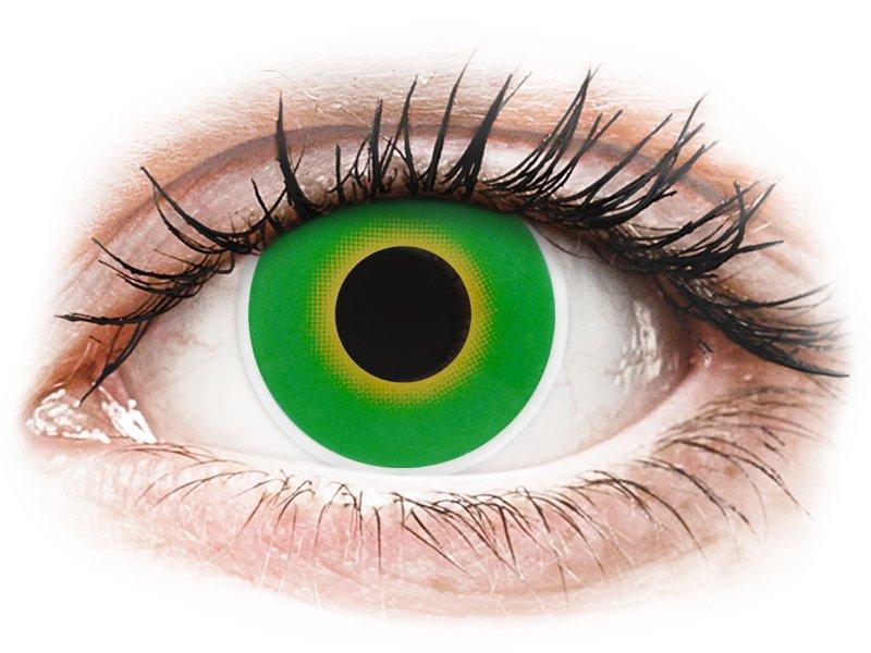ColourVUE Crazy Lens - Hulk Green - fără dioptrie (2 lentile) - Maxvue Vision