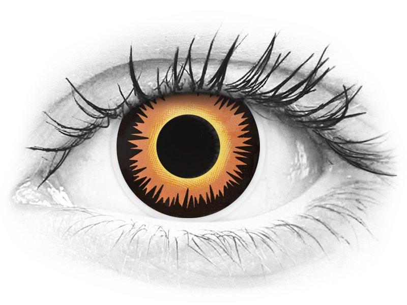 ColourVUE Crazy Lens - Orange Werewolf - fără dioptrie (2 lentile)