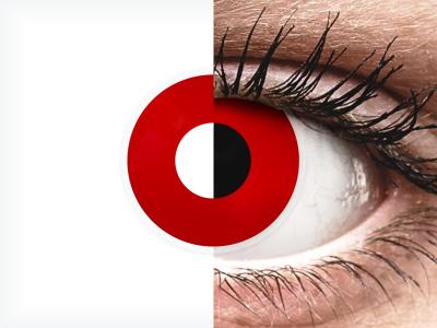 ColourVUE Crazy Lens - Red Devil - fără dioptrie (2 lentile)