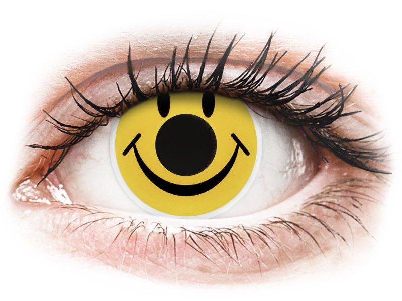 ColourVUE Crazy Lens - Smiley - fără dioptrie (2 lentile) - Lentile de contact colorate