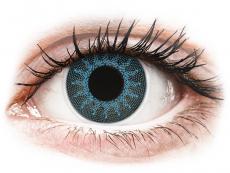 Lentile de contact fără dioptrii - ColourVUE Crazy Lens - Solar Blue - fără dioptrie (2 lentile)