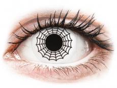 Lentile de contact albe - fără dioptrie - ColourVUE Crazy Lens - Spider - fără dioptrie (2 lentile)