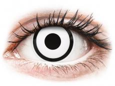 Lentile de contact albe - fără dioptrie - ColourVUE Crazy Lens - White Zombie - fără dioptrie (2 lentile)