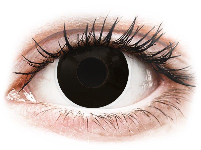 ColourVUE Crazy Lens - BlackOut - cu dioptrie (2 lentile) - Lentile de contact colorate