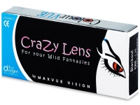 ColourVUE Crazy Lens - BlackOut - cu dioptrie (2 lentile)