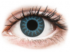 Lentile contact de Halloween - ColourVUE Crazy Lens - Solar Blue - cu dioptrie (2 lentile)