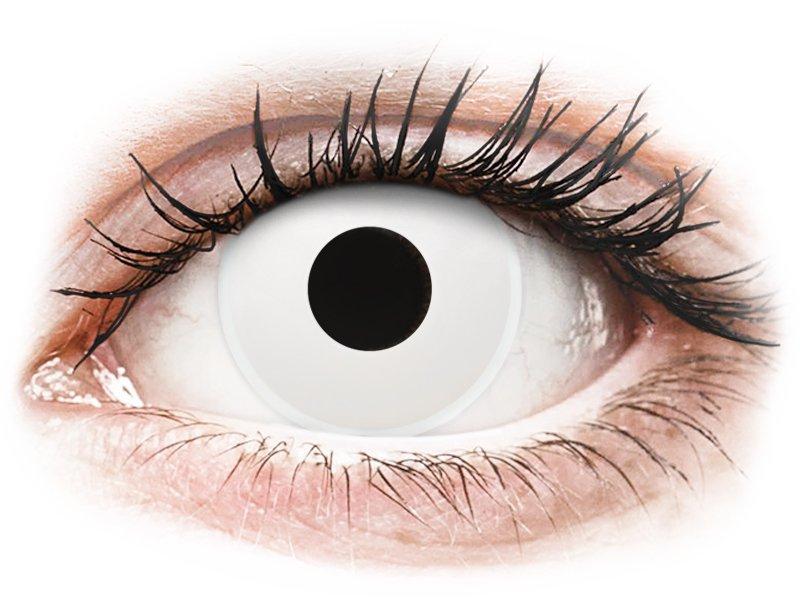 ColourVUE Crazy Lens - WhiteOut - cu dioptrie (2 lentile)
