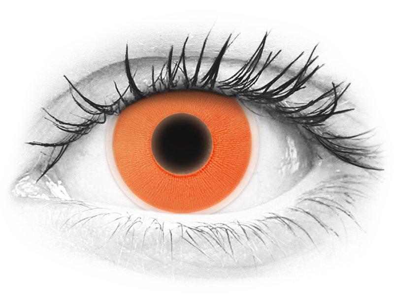 ColourVUE Crazy Glow Orange - fără dioptrie (2lentile)
