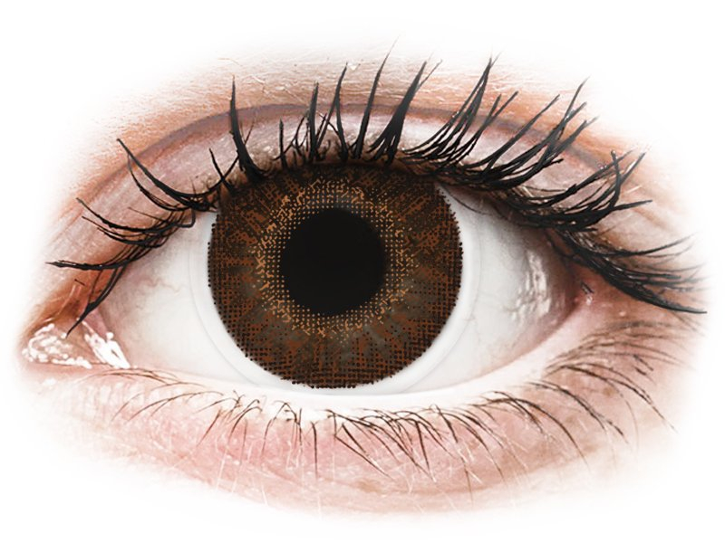 TopVue Color - Brown - cu dioptrie (2 lentile)