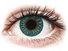 Lentile de contact verzi - cu dioptrie - TopVue Color - Turquoise - cu dioptrie (2lentile)