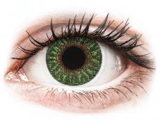 Lentile de contact verzi - fără dioptrie - TopVue Color - Green - fără dioptrie (2 lentile)