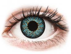 Lentile de contact albastre - fără dioptrie - ColourVUE Glamour Aqua - fără dioptrie (2lentile)