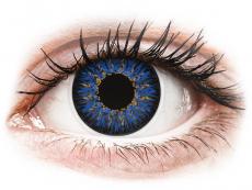 Lentile de contact albastre - fără dioptrie - ColourVUE Glamour Blue - fără dioptrie (2lentile)