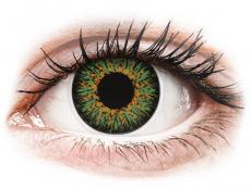 Lentile de contact verzi - fără dioptrie - ColourVUE Glamour Green - fără dioptrie (2lentile)