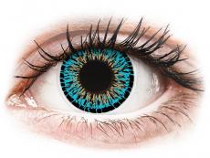 Lentile de contact albastre - fără dioptrie - ColourVUE Elegance Blue - fără dioptrie (2lentile)