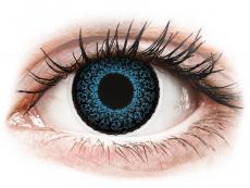 Lentile de contact albastre - fără dioptrie - ColourVUE Eyelush Blue - fără dioptrie (2lentile)