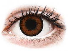 Lentile de contact maro - fără dioptrie - ColourVUE BigEyes Pretty Hazel - fără dioptrie (2lentile)