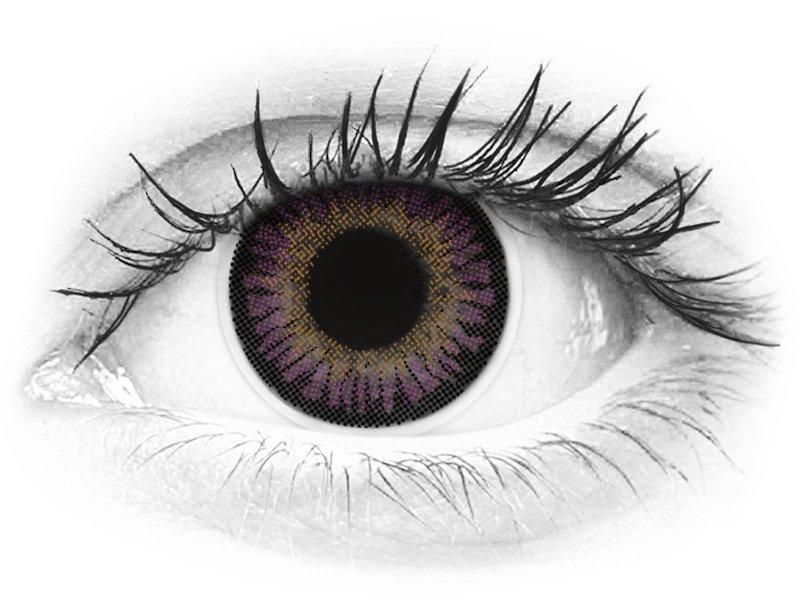ColourVUE 3 Tones Violet - fără dioptrie (2lentile)