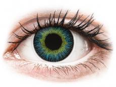 Lentile de contact galbene - fără dioptrie - ColourVUE Fusion Yellow Blue - fără dioptrie (2lentile)